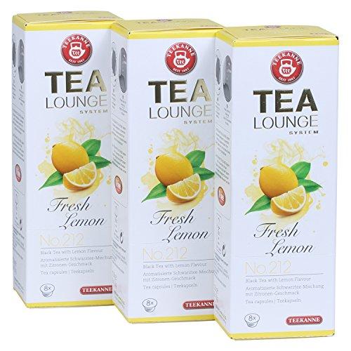 Teekanne Tealounge Kapseln - Fresh Lemon No. 212 Schwarzer Tee (3x8 Kapseln)