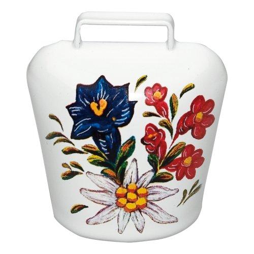 �� Alpenblumen Aufdruck ✓ Magnet - ultra stark in schickem Allgäu Motiv ✓ Glocke   Blickfang   Super für die Magnetwand oder Kühlschrank   hält 10 DIN A4 Seiten ()