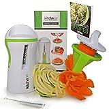 Kitchen-nv Spiralizzatore 3 in 1, con e-book e spazzola, spiralizzatore di verdure per realizzare spaghetti di zucchini, spirali di verdure