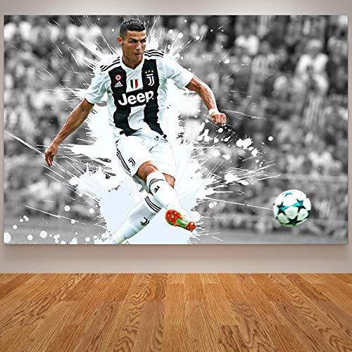 sdhvcc Abstrakte Malerei Cristiano Ronaldo Pourugal Fußballer Poster Wandbilder Für Wohnzimmer Dekoration Sport Leinwand Kunst 40 * 50 cm