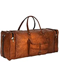 Original Leather Men Travel Duffel Bag For Men/Women/Girls/men Craft 45 By NeoFeral