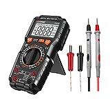 Multimetro Digitale Avanzato TRMS 6000 Conti Senza Contatto di Tensione Multimetro Elettrico, Rileva Amp Ohm Volt e Temperature, Filo Vivo, Test di Continuità con Display Retroilluminato