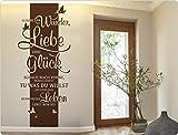 Wandtattoo Wandbanner Spruch Glaube an Wunder, Liebe und Glück. Schaue nach vo