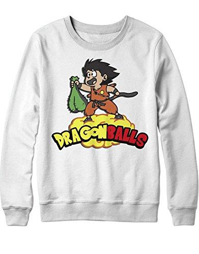 ll Balls Son Goku Z GT Super Trunks Gohan C980001 Weiß M (Krillin Cosplay Kostüm)