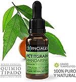 Essenciales - Aceite Esencial de Petitgrain Mandarina, 100% Puro, 30 ml | Aceite Esencial Citrus Reticulata Blanco