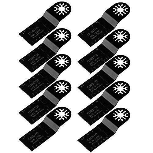 cnbtr 32x 40mm schwarz kohlenstoffreicher Stahl Universal oszillierendes Sägeblatt Multi Tools Set von 10