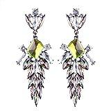 YUHUS Home Orecchini Lunghi in Cristallo con Diamanti di personalità Femminile esagerazione (Color : Yellow Color)
