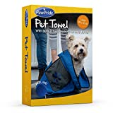 PawPride Soft, Gentle, Lightweight, Microfibre, Cloth, Bath Time, Quick-Dry, Absorbent Pet Towel Super Absorbent, Comfortable, Easy Clean, Machine Washable, Single-Pack Large Towel 85 x 50 cm