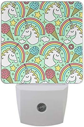 Licorne et Rainbow Vert Veilleuse LED automatique Soir au Matin le Capteur d'éclairage LED, prise en agneau de nuit pour chambre à coucher bébé, enfants, chambre d'enfant, crèche, escalier, couloir B07H27R6XW   Outlet St