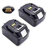 2pezzi 18V 5,0AH batteria per utensili BL1850196672–8BL1830BL1815BL1840194205–3194309–1LXT400ricambio batteria al litio Li-ion LG Celle