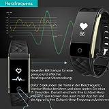 AsiaLONG Fitness Tracker mit Pulsmesser, Schrittzähler Uhr Fitness Armband Wasserdicht Aktivitätstracker mit Schlafmonitor, herzfrequenz, Kalorienzähler, Vibrationsalarm Anruf SMS Whatsapp Beachten mit IOS Android Smartphones (Upgrade Version) - 4