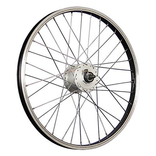 Taylor-Wheels 20 Zoll Vorderrad Alufelge Shimano Nabendynamo DH-C3000 - schwarz