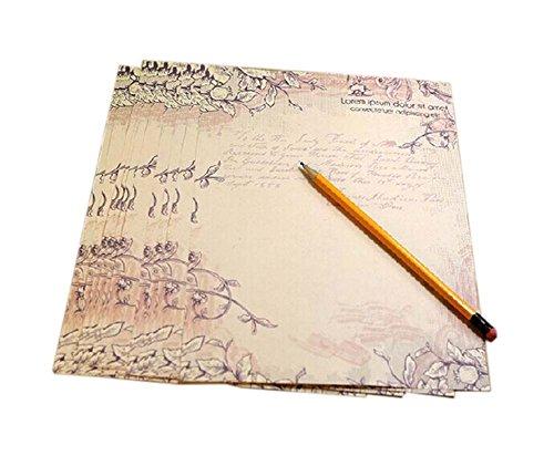 schöne Reben braunes Pack Briefpapier/ Schreibpapier(8 Stück)