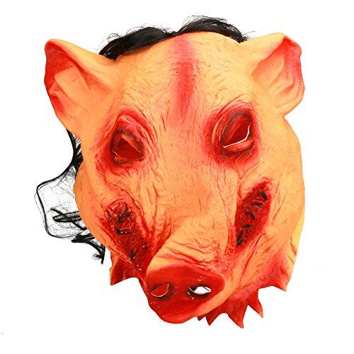 (Kingprost-Toy Halloween Masken Latex Scary Schweinegesicht KostüM Cosplay Geschenk FüR Erwachsene)