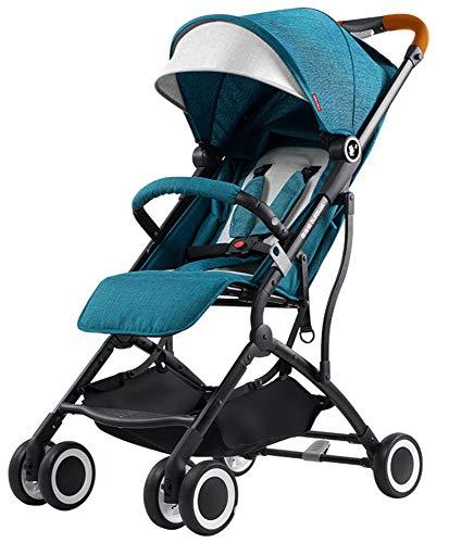 Cochecito de bebé cochecito para niños carrito plegable para niños, azul