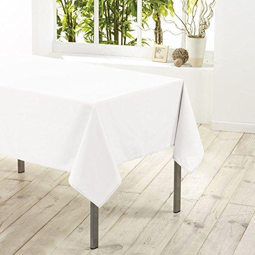 Douceur d'intérieur  - 1720206, tovaglia rettangolare , 140 x 250 cm , essentiel , poliestere unito , bianco