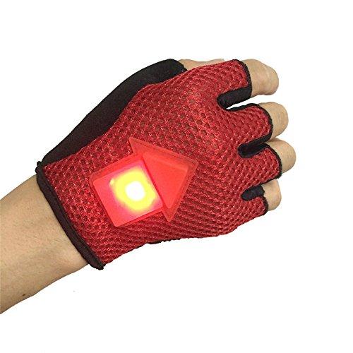 Guantes LED con señal de giro advertencia para ciclismo 01