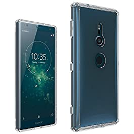 Xperia Xz2 Case, Xperia Xz2 Clear Case, [Fusion] [Clear] [Silicone Case] [Slim] [Phone Charm] [Gel Case] [Transparent] [Shock Absorption] [Compatible With Xperia Xz2 Screen Protector Tempered Glass]