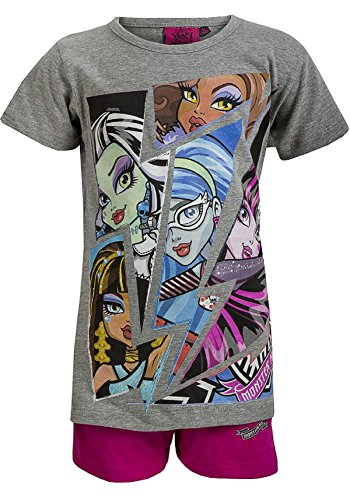 Image of Girls Monster High Short Pyjamas Age 6 to 12 Years