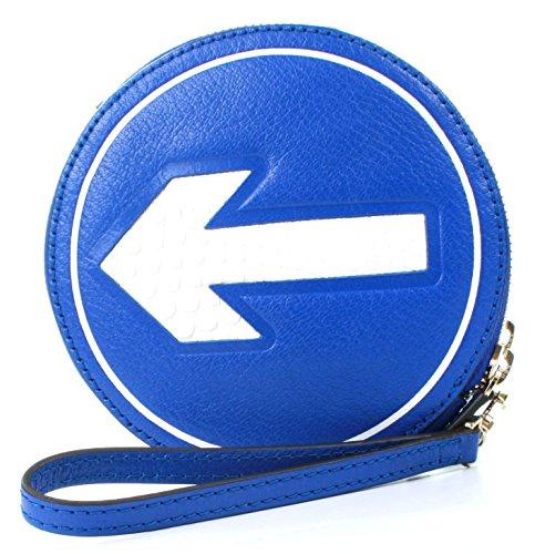 Anya Hindmarch Clutch Hadlow Arrow Electric Blue Leder, Blau - blau - Größe: Small -