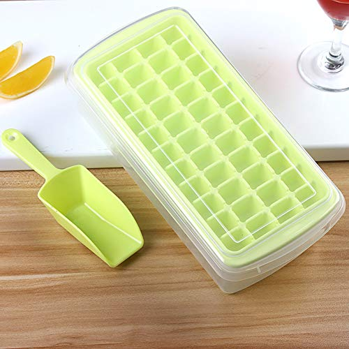 44Grids Nontoxische Für Freezer DIY Easy Pop Out mit Scoop Ice Mold Plastic Non Stick Maker Cover Storage Box rechteckig Plastic Ice Scoop