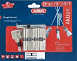 ABUS Profil-Zylinder Twins Set 2-Stück gleichschließend mit 4 Schlüsseln, 11560