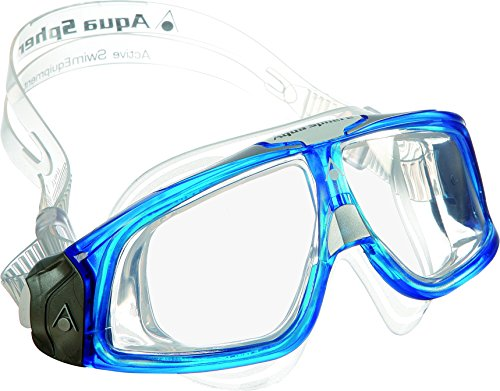 Aqua Sphere Seal - Maschera da nuoto, Made in Italy, Uomo, Blue Silver, N/A