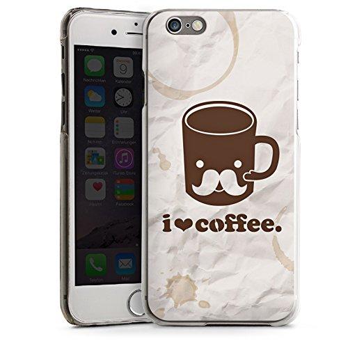 Apple iPhone 6 Housse Étui Silicone Coque Protection Café Tasse Amour CasDur transparent