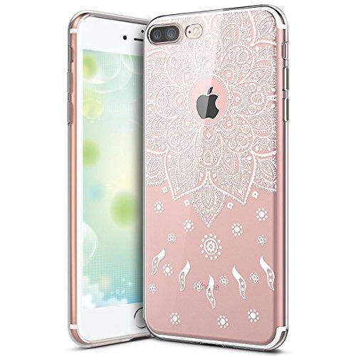 Hülle für iPhone 6 6S,iPhone 6 6S Silikon Schutzhülle,KunyFond [Liquid Crystal] Mandala Malerei Muster TPU Silikon Hülle Transparent Kristallklar Schutzhülle [Ultra Dünn] Klar Weiche Silikon Crystal K Mandala#8