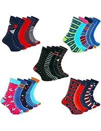 TWO LEFT SOCKS 5 Pares Calcetines Funky en Una Caja de Regalo Vestido de Lujo con Estampado Colorido y Calcetines de ocio, Hechos en Europa, Diseños Divertidos y Tamaños Para Hombres, Mujeres y Niños