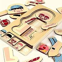 Dorime Montessori Educational Children Toys Wooden Human Body Puzzle Boys Body Structure Children Puzzles Kids Toys