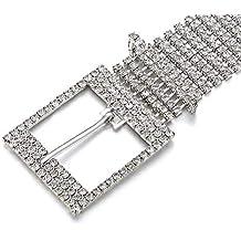 nuovo concetto d5a1e 3de60 Amazon.it: Cintura con strass - Argento