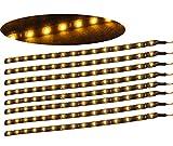 15LEDs Strisce Illuminazione adesivo impermeabile (giallo)