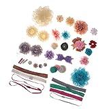 MagiDeal Kinder Haarschmuck DIY Set, Haarklammer Haarschleifen Stirnband, Handwerk Zusatz, Schmuck Basteln - Multi #1