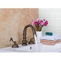 Gowe Gowe Gowe lavandino doppio maniglie in ottone antico cascata vasca da bagno lavandino rubinetto miscelatore per vasca rubinetto | Buona Reputazione Over The World  | In vendita  | La qualità prima  4fab34