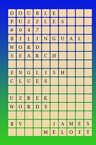 4cb6b0d165fe Double Puzzles #047 - Bilingual Word Search - English Clues - Uzbek Words