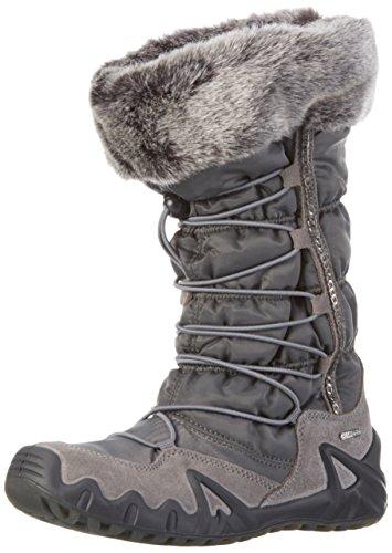 PrimigiAlfa-e - Stivali e stivoletti alti imbottiti caldi Bambina , grigio (Grau), 34 EU