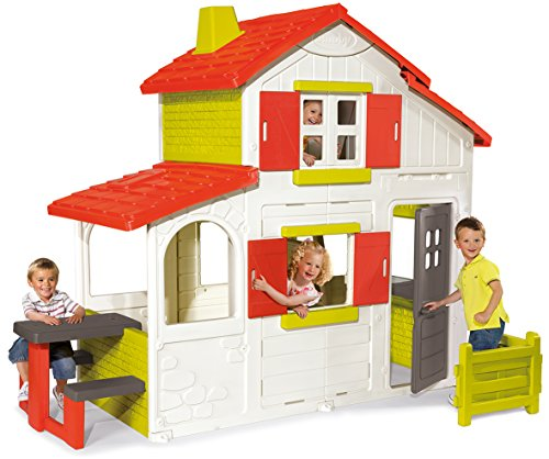 Smoby–320023–Haus-Garten–Duplex