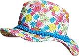 Playshoes Mädchen Mütze Sonnenhut Blumenmeer mit UV-Schutz, Mehrfarbig (Pink 18), Large (Herstellergröße: 55cm)