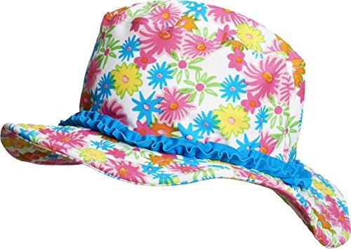 Playshoes Mädchen Mütze Sonnenhut Blumenmeer mit UV - Schutz, Gr. Small (Herstellergröße: 51cm), Mehrfarbig (Pink 18)
