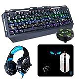 Woxter Stinger Elite Kit, Kit Gaming para Profesionales, con Teclado mecánico, ratón óptico, Pad de Microfibra 28 x 25, Auriculares con micrófono y Hub USB