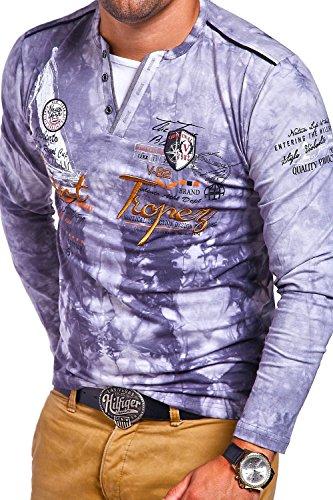 MT Styles 2in1 Longsleeve P-SAINT T-Shirt R-0857 Grau