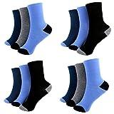 HighClassSttyle 12 Paar Kids Socks Jungen Socken Kinder Strümpfe 85% Baumwolle A.S-100 Gr. 23-38 Verschiedene Farben (35-38)