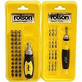 Rolson 28425 Kit tournevis et embouts de précision 50 pièces (Import Grande Bretagne)