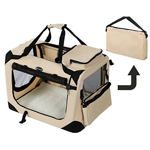 songmics cage sac caisse de transport pliable pour chien. Black Bedroom Furniture Sets. Home Design Ideas