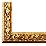 Bilderrahmen Mantova Gold 3,1 - LR - 40 x 40 cm - 500 Varianten - Alle Größen - Handgefertigt - Galerie-Qualität - Antik, Barock, Modern, Shabby, Landhaus - Fotorahmen Urkundenrahmen Posterrahmen