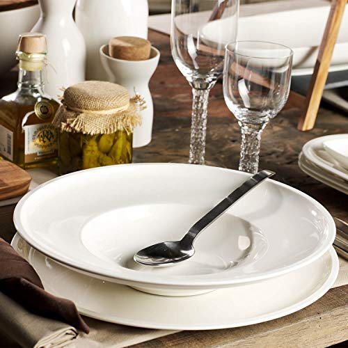 Villeroy & Boch Artesano Original Suppenteller, 25 cm, Premium Porzellan, Weiß
