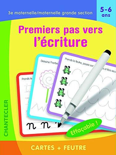 Premiers pas vers l'écriture 3e maternelle/maternelle grande section 5-6 ans : Cartes + feutre par (Broché - Jul 6, 2017)