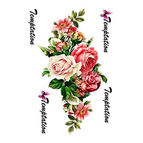 Fgghfgrtgtg rose fiori braccio spalla tatuaggi saloni di bellezza make up falso temporaneo impermeabile manubrio sticker
