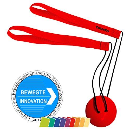 TwistFit® original u. patentiert - Fitness-Studio im Taschenformat Rot (Twist Fitness-studio)